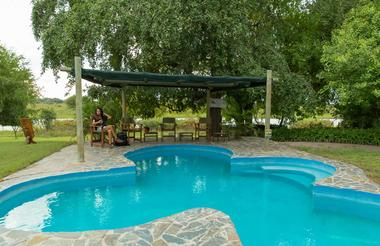 Thamalakane River lodge swimming pool